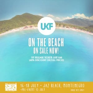 UKF at Sea Dance Festival - on sale now