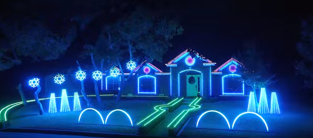 Christmas Dubstep.Watch Dubstep Christmas Light Show